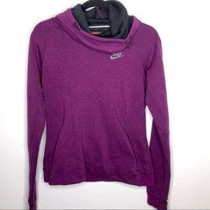 Nike Purple Cowlneck Hooded Pullover Sweater MD